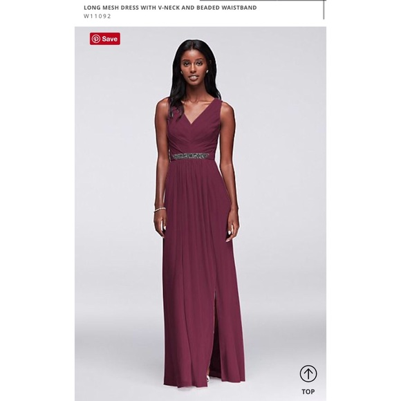 053507f10195 David's Bridal Dresses | Davids Bridal Bridesmaids Dress W11092 Wine ...